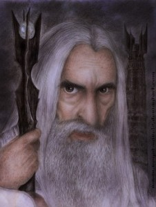 Evil Wizard Saruman inaccurately portrayed here plotting to enslave human race with trans fatssource:http://vegetanivel2.deviantart.com/art/Saruman-Final-213864892