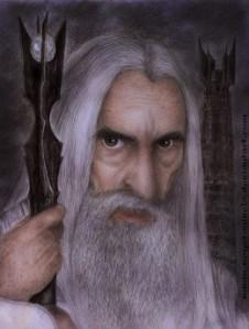 Evil Wizard Saruman inaccurately portrayed here plotting to enslave human race with trans fatssource:http://vegetanivel2.deviantart.com/art/Saruman-Final-213864892