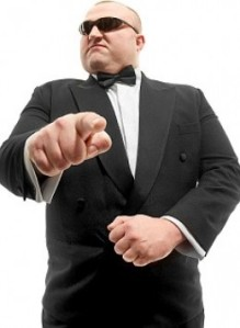 professional bow tie models look just like bouncers don't they?